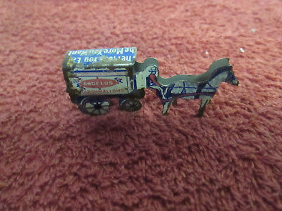 Cracker Jack tin litho Horse and Wagon prize