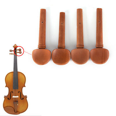4/4 Size Jujube Wood Violin Fiddle Tuning Pegs Endpin Set Replacement Chic