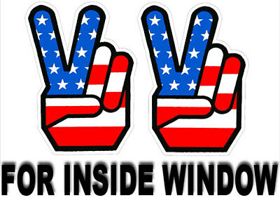 1960's Peace Sign Stickers, INSIDE GLASS / WINDOW, Retro Vintage Hippie Decal