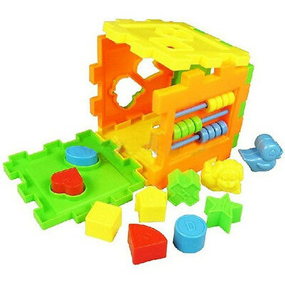 AU_ Kid Educational Play Games Animal Shape Alphabet Block Cube Toddler Toy Prec