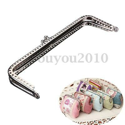 NEW Sewing Purse Handbag Handle Silver Coins Bags Metal Kiss Clasp Frame 15cm