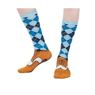 Brogue Silly Socks Size 5-11 - Novelty 511 Golfer Joke Fun Gift Shoe