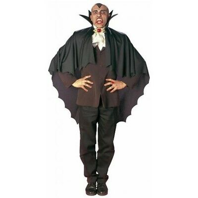 Vampire Cape Withstand Up Collar Black Accessory For Superhero Super Hero Fancy