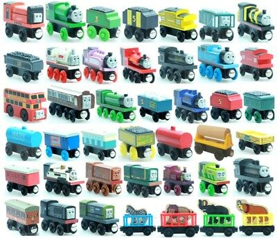 New Thomas & Friends Cartoon Magnetic Wooden Railway Trains Tenders Toys Gift