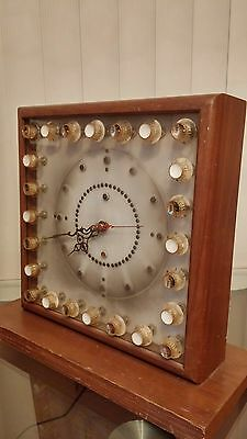 Vintage Amplifier-Guitar Style Hand wired Mantle/Table Clock, Store Display? WOW