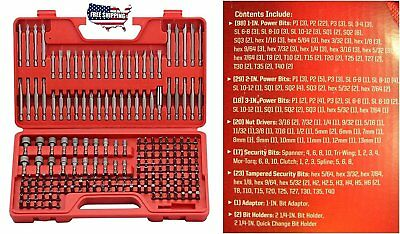 Screwdriver Bit Set Craftsman 208 Pc Set Power Box Tools Molded Carrying Case