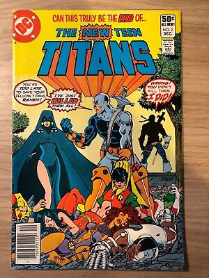 The New Teen Titans #2 First Deathstroke The Terminator, Ravager, H.I.V.E