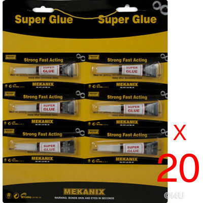 120 X Strong Super Glue Adhesive Surface Insensitive Fast Instant Gel Tool