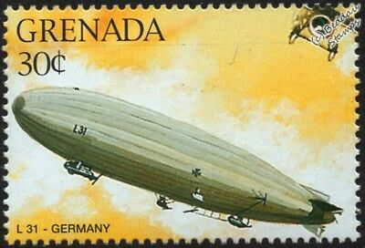 WWI Luftschiff Zeppelin LZ.72 (Imperial German Navy L31) Airship Aircraft Stamp