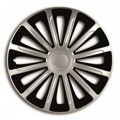 "TOYOTA AURIS 13 ON  15"" 15 Inch Car Wheel Trims Covers Black + Silver"