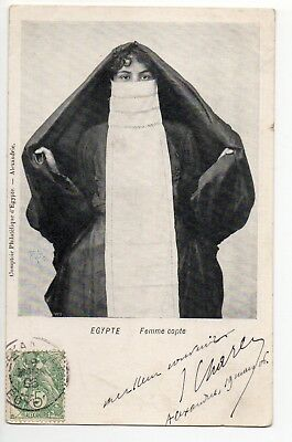 EGYPTE costumes personnages types egyptienne voilée femme copte
