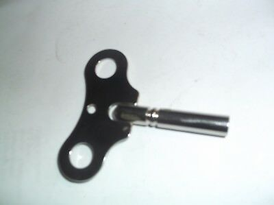 Chrome Steel Clock Key Fits A Number 7 Ref Z10