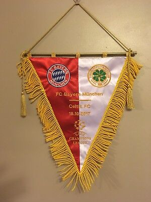 Bayern Munchen V Celtic Champions League Group 2017 Banderin Pennant Wimpel