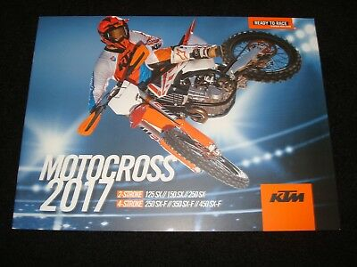 Ktm 125Sx, 150Sx, 250Sx, 250Sx-F, 350Sx-F, 450Sx-F 2017 Brochure New, Old Stock