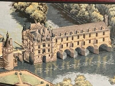 French Museum Quality Tapestry Historic Chateau de Chenonceau Wall Hanging