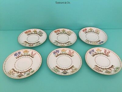 6 Tiffany & Co. PRIVATE STOCK CIRQUE CHINOIS plates Le Tallec Limoges China