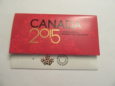 2015 Canada Uncirculated Set, 6 coins, mint package