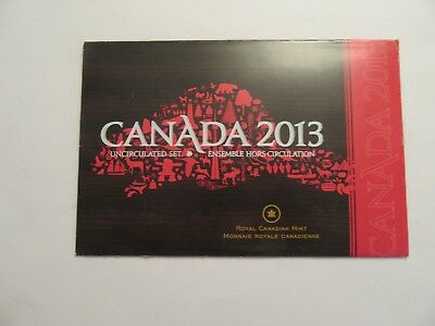 2013 Canada Uncirculated Set, 6 coins, mint package