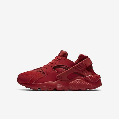 New Nike Youth Huarache Run GS Shoes (654275-600)  University Red/University Red