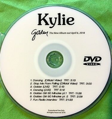 Kylie Minogue DVD music video DANCING , Stop Me From Falling & LIVE, GOLDEN