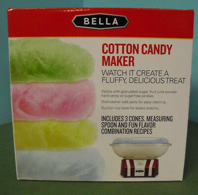 BELLA Kitchen Counter Home Cotton Candy Maker, Red & White - Easy to use / clean
