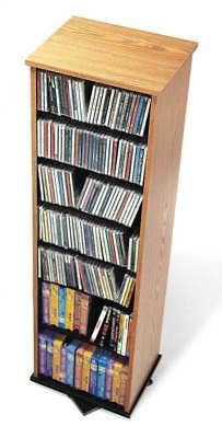 2-Sided Spinning Multimedia Tower w Adjustable Shelves [ID 3061571]
