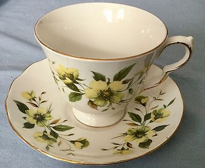 Vintage Royal Vale Bone China Floral Tea Cup and Saucer Ridgway Potteries No 837