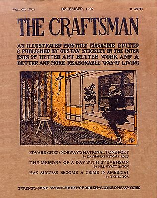 183 CRAFTSMAN MAGAZINES Gustav Stickley 1901-1916  HOUSE PLANS furniture DVD