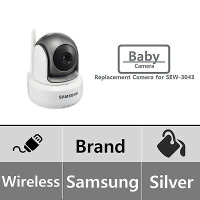 Samsung Wireless HD PTZ Video Baby Camera, White Add-on Camera