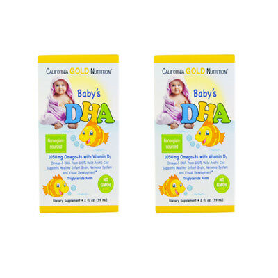 2X CALIFORNIA GOLD NUTRITION BABY DHA 1050mg OMEGA-3s WITH VITAMIN D3 BODY CARE