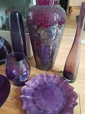 Eight Decorative Glass Vases And Bowls Of Various Size Vases On