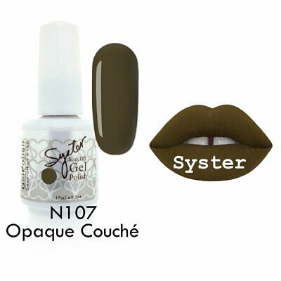 SYSTER 15ml Nail Art Soak Off Color UV Gel Polish N107 - Opaque Couche