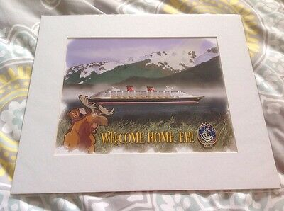 Disney Cruise line lithograph Poster 14 X 12 DCL DVC Alaska Charter Cruise 2015