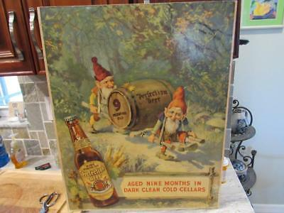 Vintage Horlacher Perfection Cardboard Beer Sign