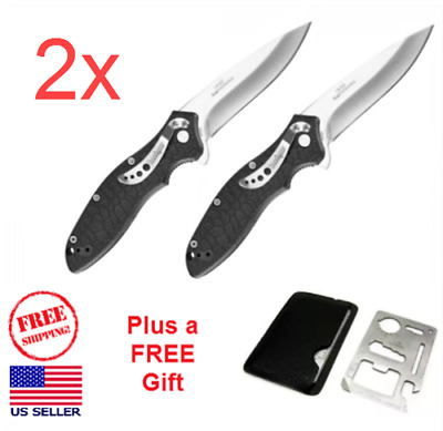 (TWO) Kershaw Knives OSO Sweet Folding Pocket Knife Non-Serrated Plain Blade