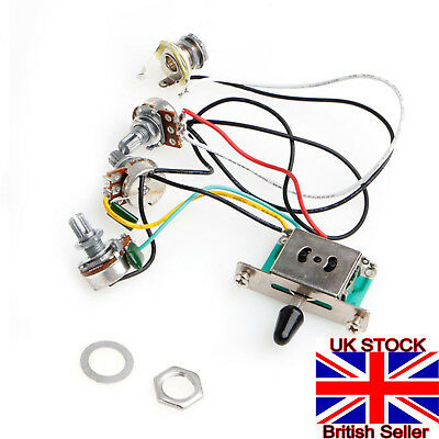 1Pc Strat Stratocaster Guitar 5-Way Switch 250k Pots Knobs Wiring Harness