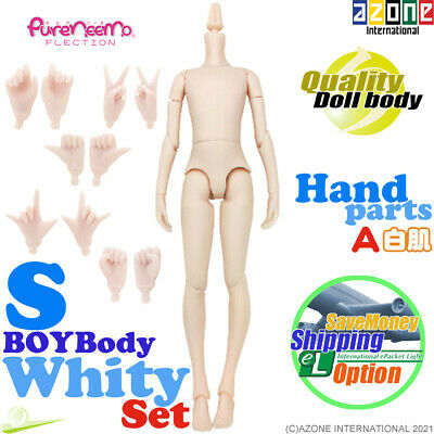 AZONE Pure Neemo FLECTION S Boy Body & Hand parts A set White Blythe Doll NEW
