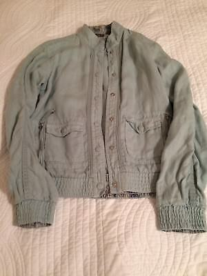b9c439ce120ae5 Ted Baker Linen Jacket Size 10 (Ted Baker size 2) pale green-blue