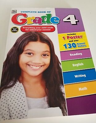 NEW Complete Book of Grade4 Workbook Phonics,Reading,Math,Writing Pract FREESHIP