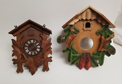 Vintage Cuckoo Clock Case Lot Of 2, Black Forest ? Germany