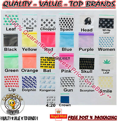 Self Seal Baggies Resealable Smelly Proof Closable Grip Vacuum Plastic Bags UK