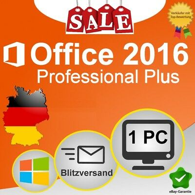 Microsoft Office 2016 Professional Plus Lizenz für 1 PC MS Office 2016 Pro Plus