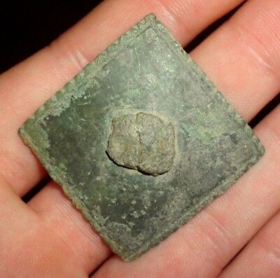 Superb Ancient Celtic Druids Bronze Shield Decoration - 200 Bc - Rare!