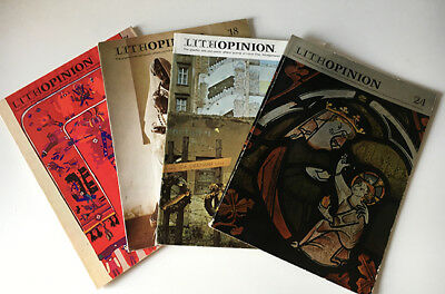 Lot Lithopinion Magazines Graphic Arts Journal Design Art Type Printing Graphis