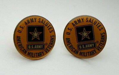 2 United States US Army Salutes American Military Veterans Lapel Pins New NOS