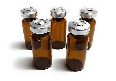 10mL Sterile Amber Glass Vials - 100 Pack - FREE SHIPPING