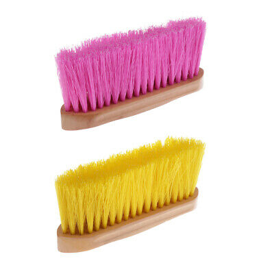 Horse Body Brush Mane Tail Cleaning Comb with Wood Grip Horse Care Supplies