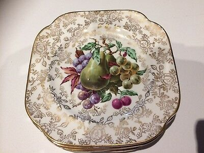 "Longton James Kent ""Pearl Delight"" set of 6 small plates"