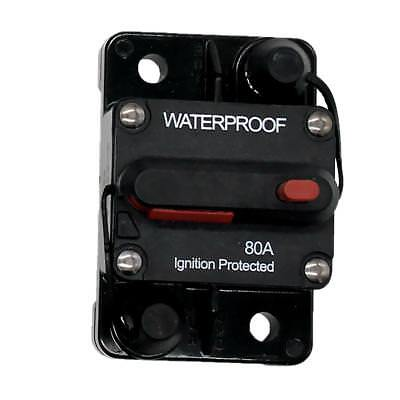 Car Marine Boat Bike Stereo Audio Inline Fuse Circuit Breaker 80AMP 12V-48V
