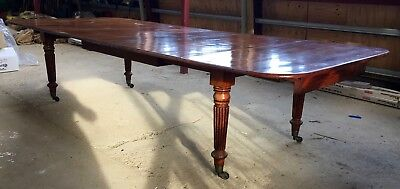 Large Victorian Mahogany Dining Table, Seats 12, Essex